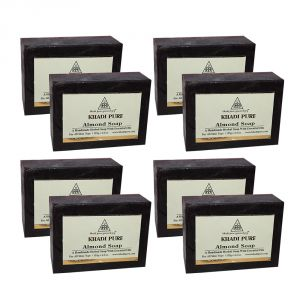 Khadi Pure Herbal Almond Soap - 125g (set Of 8)
