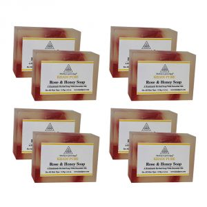 Khadi Pure Herbal Rose & Honey Soap - 125g (set Of 8)