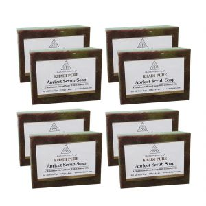 Khadi Pure Herbal Apricot Scrub Soap - 125g (set Of 8)