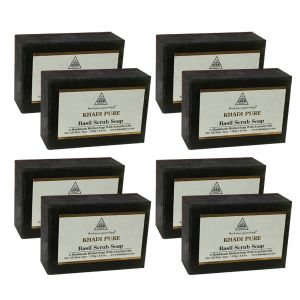 Khadi Pure Herbal Basil Scrub Soap - 125g (set Of 8)