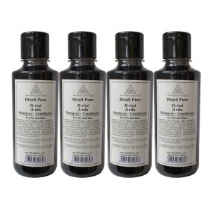 Khadi Pure Herbal Amla Shampoo Conditioner - 210ml (set Of 4)