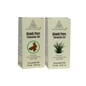 Khadi Pure Cinnamon And Citronella Essential Oil Combo (30ml) Pack 2