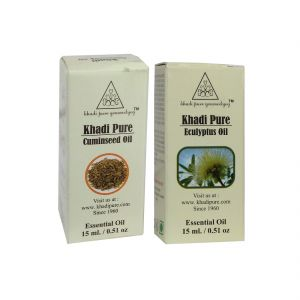 Khadi Pure Cuminseed And Eucalyptus Essential Oil Combo (30ml) Pack 2