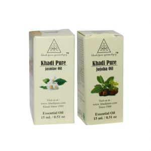 Khadi Pure Jasmine And Jojoba Essential Oil Combo (30ml) Pack 2
