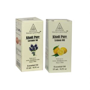 Khadi Pure Lavender And Lemon Essential Oil Combo (30ml) Pack 2