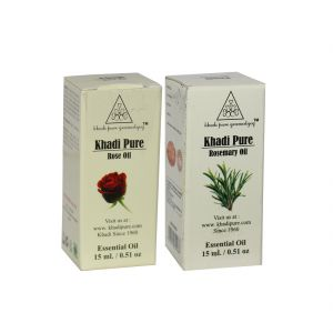 Khadi Pure Rose And Rosemary Essential Oil Combo (30ml) Pack 2