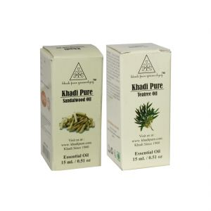 Khadi Pure Sandalwood And Teatree Essential Oil Combo (30ml) Pack 2