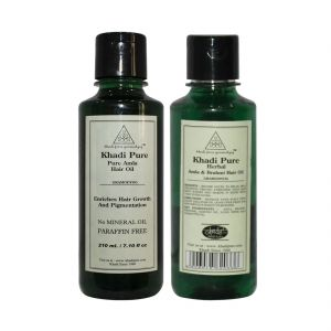 Khadi Pure Amla & Brahmi And Pure Amla Hair Oil Combo (420ml) Pack 2