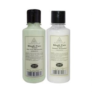 Khadi Pure Aloevera And Jasmine Moisturizer Combo (420ml) Pack 2
