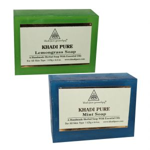 Khadi Pure Lemongrass And Mint Soap Combo (250g) Pack 2