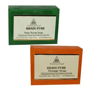 Khadi Pure Andange And Pure Neem Soap Combo (250g) Pack 2
