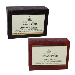 Khadi Pure Almond And Honey Soap Combo (250g) Pack 2
