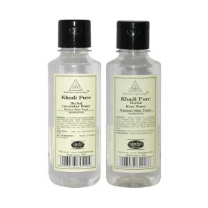 Skin Toners, Cleansers - Khadi Pure Cucumber and Rose Water Toner Combo (420ml) Pack 2