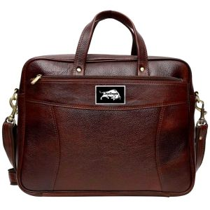Justrack 16 Inch Expandable Laptop Messenger Bag (brown)