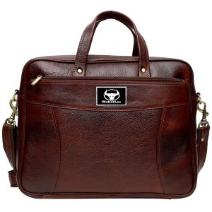 Walletlee 16 Inch Expandable Laptop Messenger Bag (brown)