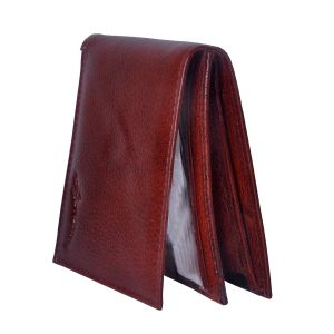 Tamanna Men Brown Genuine Leather Wallet (3 Card Slots) (code - Lwm00041-tm)