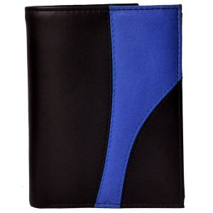 Tamanna Men Black, Blue Genuine Leather Wallet (9 Card Slots)