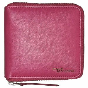 Tamanna Men Pink Genuine Leather Wallet (8 Card Slots)