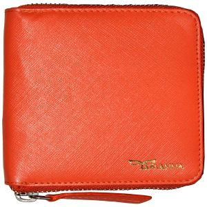 Tamanna Men Orange Genuine Leather Wallet (8 Card Slots)