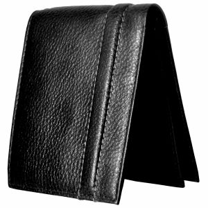 Tamanna Men Black Genuine Leather Wallet (6 Card Slots)