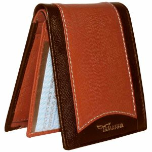 Tamanna Men Tan, Brown Genuine Leather Wallet (6 Card Slots)