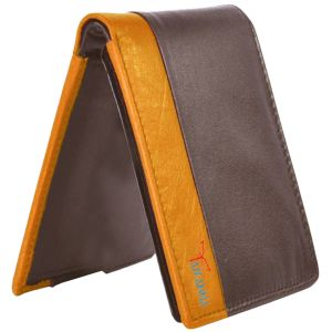 Tamanna Men Brown, Tan Genuine Leather Wallet (8 Card Slots)