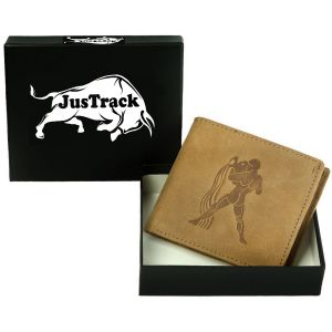 Justrack Men Tan Genuine Leather Wallet (5 Card Slots) (code - Lwm00142_jt)
