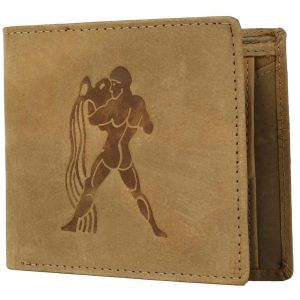 Justrack Men Tan Genuine Leather Wallet (8 Card Slots) (code - Lww00143-jt)