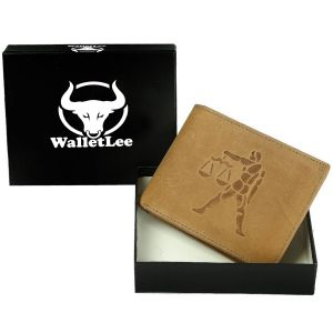 Walletlee Men Tan Genuine Leather Wallet (8 Card Slots) (code - Lwm00146-wl)