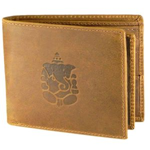 Justrack Men Tan Genuine Leather Wallet (1 Card Slot) (code - Lwm00147_jt)