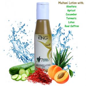 Skin Care - Super King Multani Mitti Lotion Pack with 7-Herbal Extracts & Saffron,(SLES sulfate free), 120ml