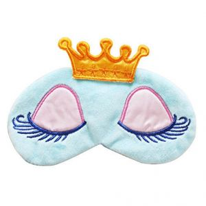 Gutargoo Cartoon Long Eyelash Sleeping Beauty Crown Sleeping Eye Mask Eyeshad