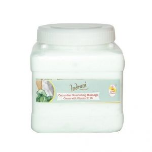 Globus,Garnier,Vaseline,Davidoff,Indrani Body Care - Indrani Cucumber Nourishing Massage cream with Vitamin-E Oil-1KG
