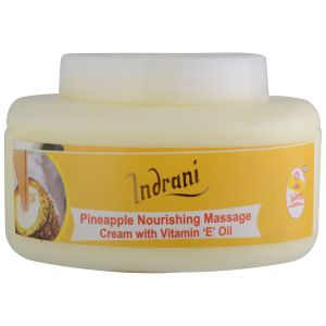 Globus,Garnier,Davidoff,Indrani Skin Care - Indrani Cosmetics Pineapple Nourishing Massage Cream With Vit-E Oil-200GMS