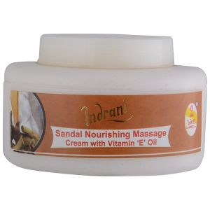 Indrani Cosmetics Sandal Nourishing Massage Cream With Vit-e Oil-200gm
