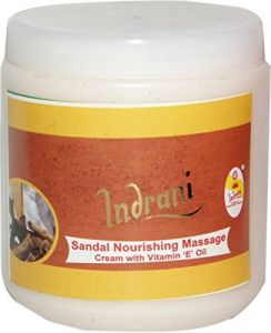 Alba Botanica,Estee Lauder,Globus,Indrani Body Care - Indrani Cosmetics Sandal Nourishing Massage Cream With Vit-E Oil-500GM