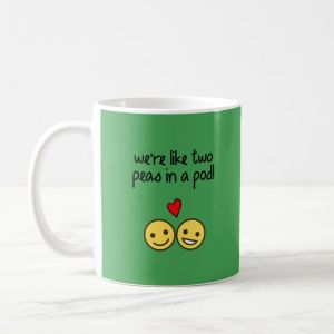 Anniversary Gifts - Personalised Peas in a Pod Mug