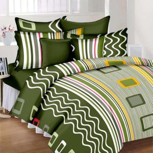Wi International Beautiful Cotton Double Bedsheet With Two Pillow Cover (code - Pbs0013)