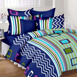Wi International Beautiful Cotton Double Bedsheet With Two Pillow Cover (code - Pbs0014)