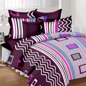 Wi International Beautiful Cotton Double Bedsheet With Two Pillow Cover (code - Pbs0015)