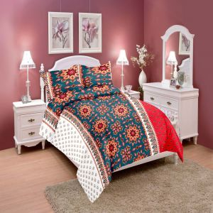 Wi International Beautiful Cotton Double Bedsheet With Two Pillow Cover (code - Pbs0016)
