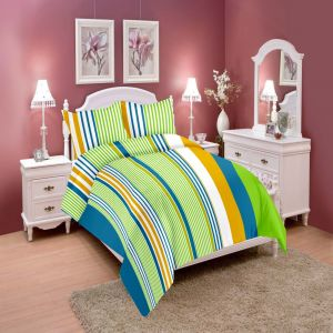 Wi International Beautiful Cotton Double Bedsheet With Two Pillow Cover (code - Pbs0017)