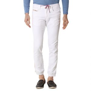 Kozzak White Slim Fit Stretchable Jeans( Code - 1220a )