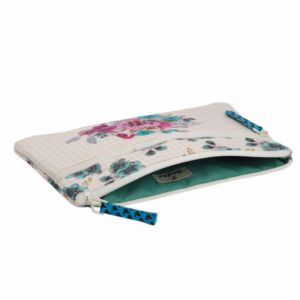 Pinaken Blossom Embroidered & Embellished Two Zipper Pouch