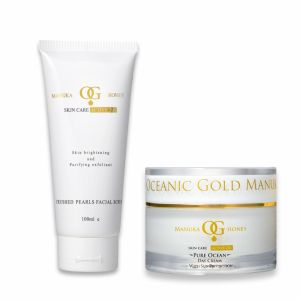 Oceanic Gold Ocean Facial Scrub With Crushed Pearls &pure Ocean Day Cream With Sun Protection