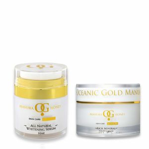 Oceanic Gold All Natural Whitening Serum & Pure Ocean Day Cream With Sun Protection