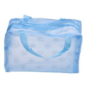 Futaba Portable Cosmetic Toiletry Travel Pouch Organizer Bag - Blue 2 PCs