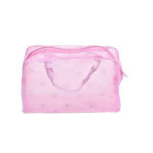 Futaba Portable Cosmetic Toiletry Travel Pouch Organizer Bag - Pink 2 PCs