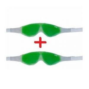 2pcs Cool Eye Mask With Aloe Vera Based Cooling Gel