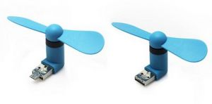 Micro 2 In 1 Mini Mobile Phone Portable Flexible USB Fan